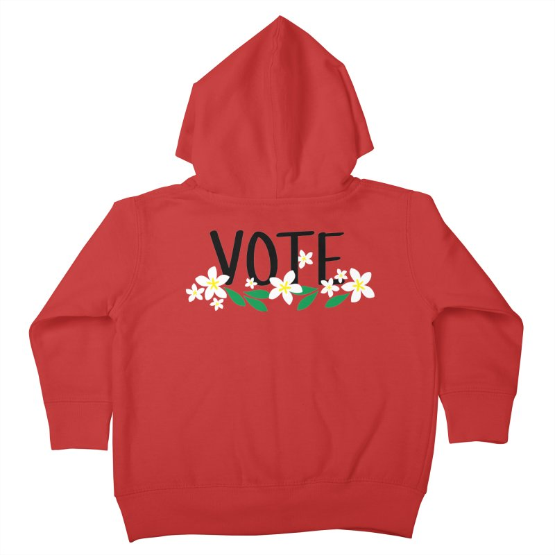 VOTE - Plumerias Kids Toddler Zip-Up Hoody by 6degreesofhapa's Artist Shop