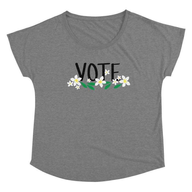 VOTE - Plumerias Women's Scoop Neck by 6degreesofhapa's Artist Shop