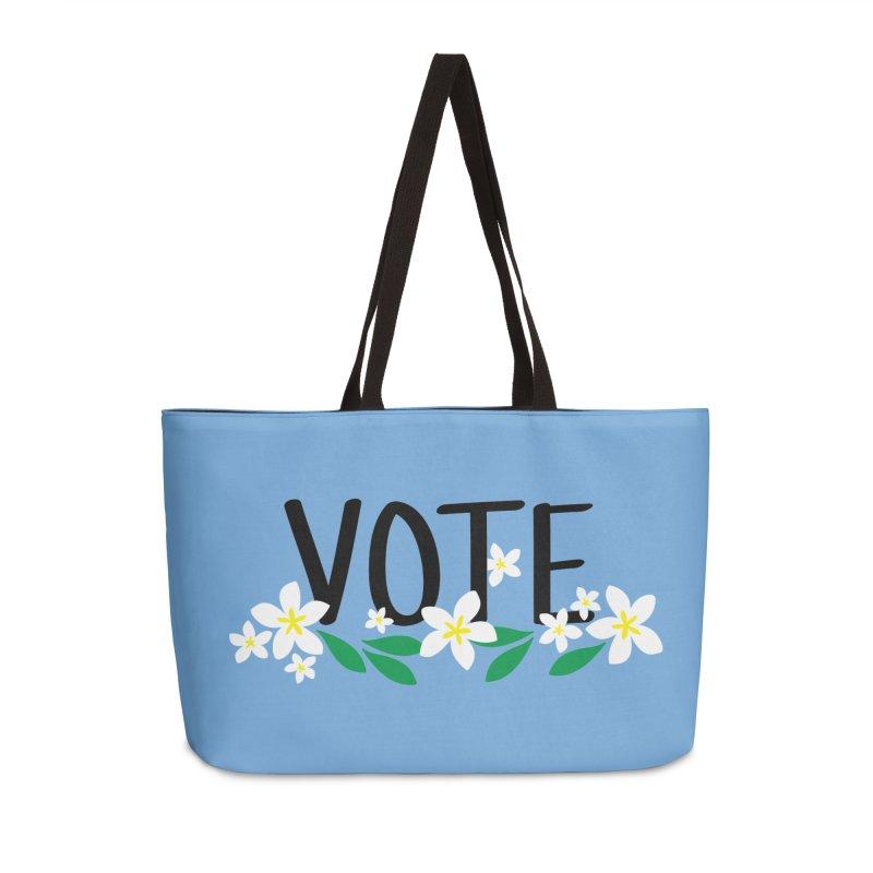 VOTE - Plumerias Accessories Bag by 6degreesofhapa's Artist Shop