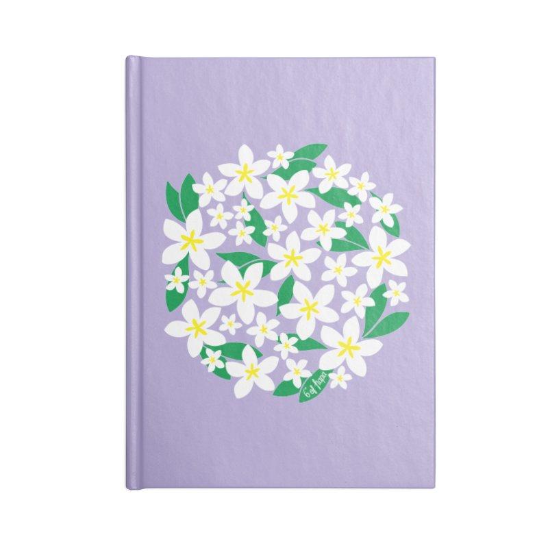 Plumeria in the Round - Purple Background Accessories Notebook by 6degreesofhapa's Artist Shop