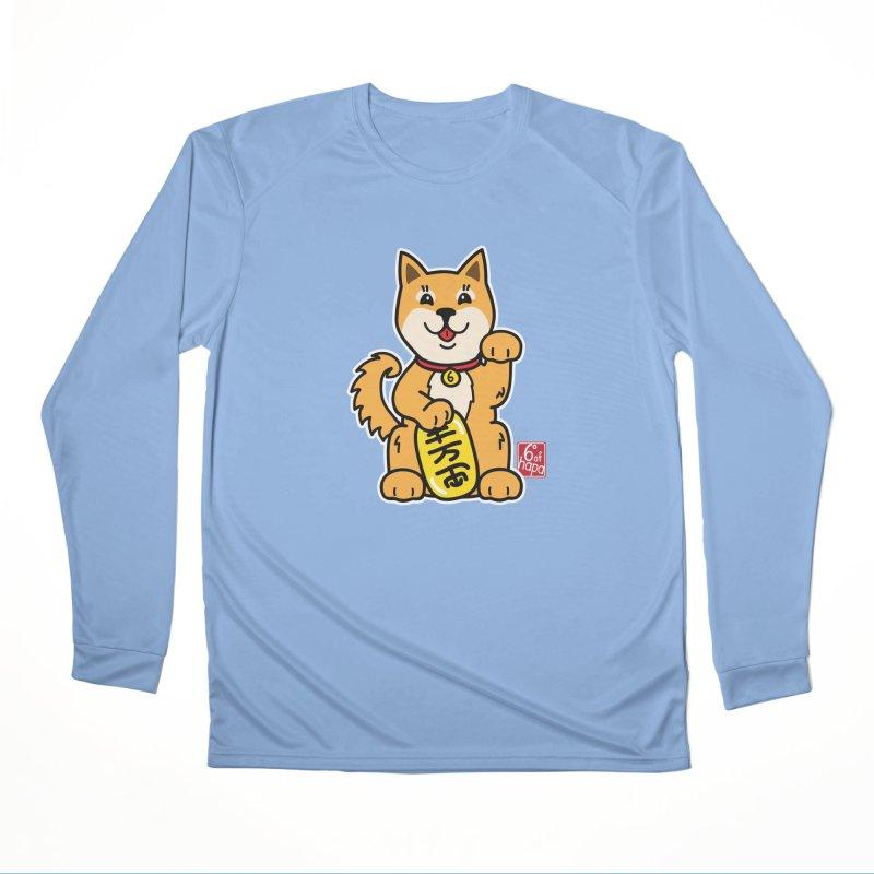 Maneki Inu - Aka Men's Longsleeve T-Shirt by 6degreesofhapa's Artist Shop