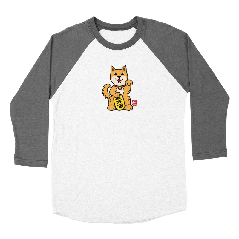 Maneki Inu - Aka Women's Longsleeve T-Shirt by 6degreesofhapa's Artist Shop