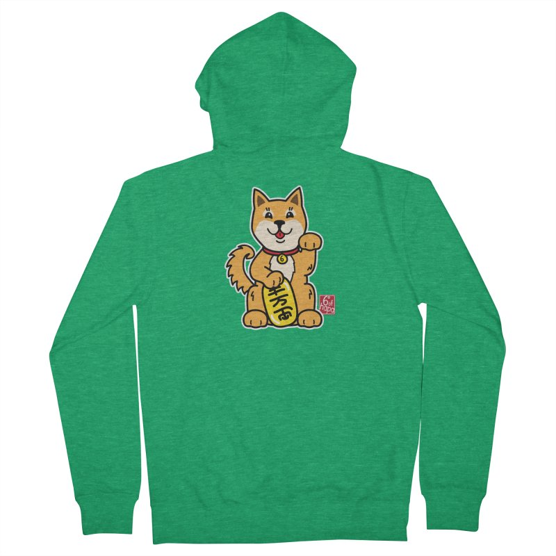 Maneki Inu - Aka Men's Zip-Up Hoody by 6degreesofhapa's Artist Shop