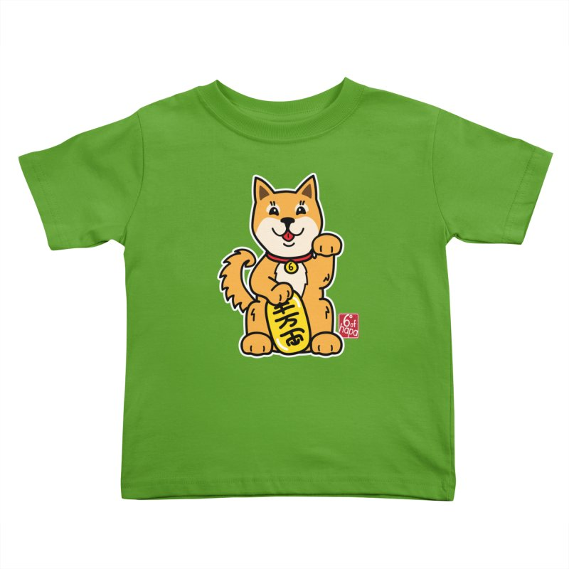 Maneki Inu - Aka Kids Toddler T-Shirt by 6degreesofhapa's Artist Shop