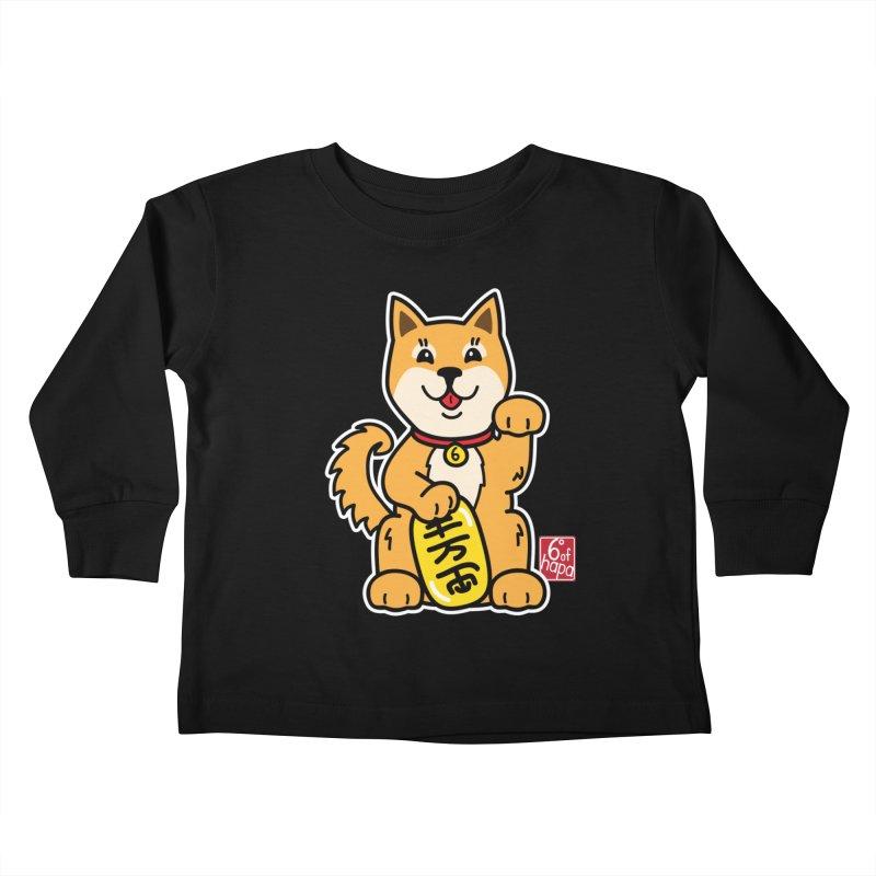 Maneki Inu - Aka Kids Toddler Longsleeve T-Shirt by 6degreesofhapa's Artist Shop