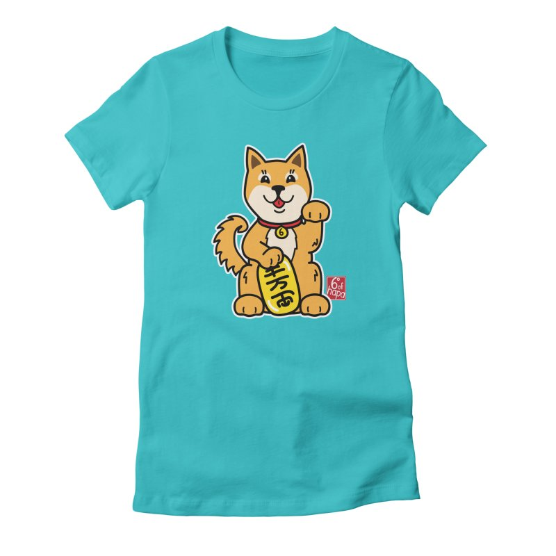 Maneki Inu - Aka Women's T-Shirt by 6degreesofhapa's Artist Shop