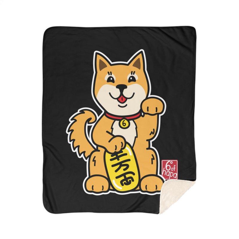 Maneki Inu - Aka Home Blanket by 6degreesofhapa's Artist Shop
