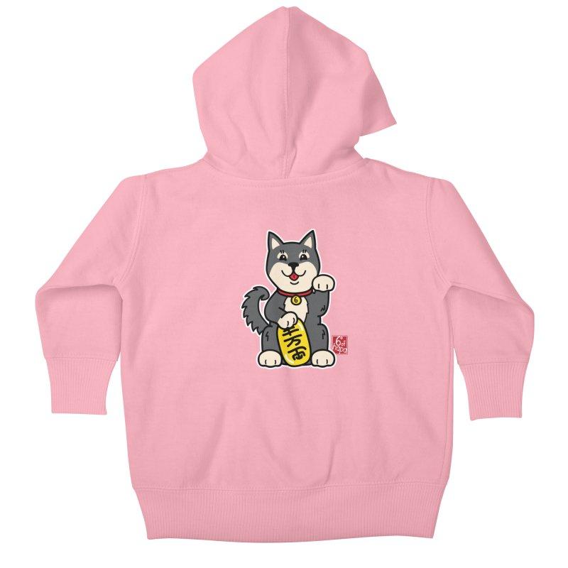 Maneki Inu - Kuro Kids Baby Zip-Up Hoody by 6degreesofhapa's Artist Shop