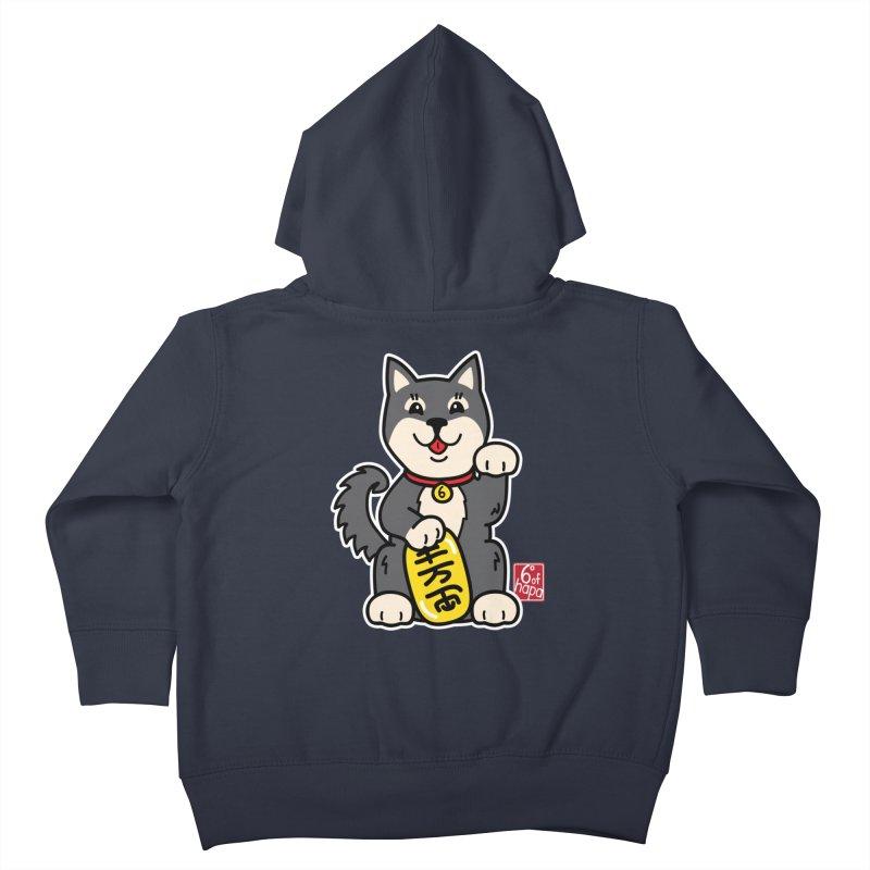 Maneki Inu - Kuro Kids Toddler Zip-Up Hoody by 6degreesofhapa's Artist Shop