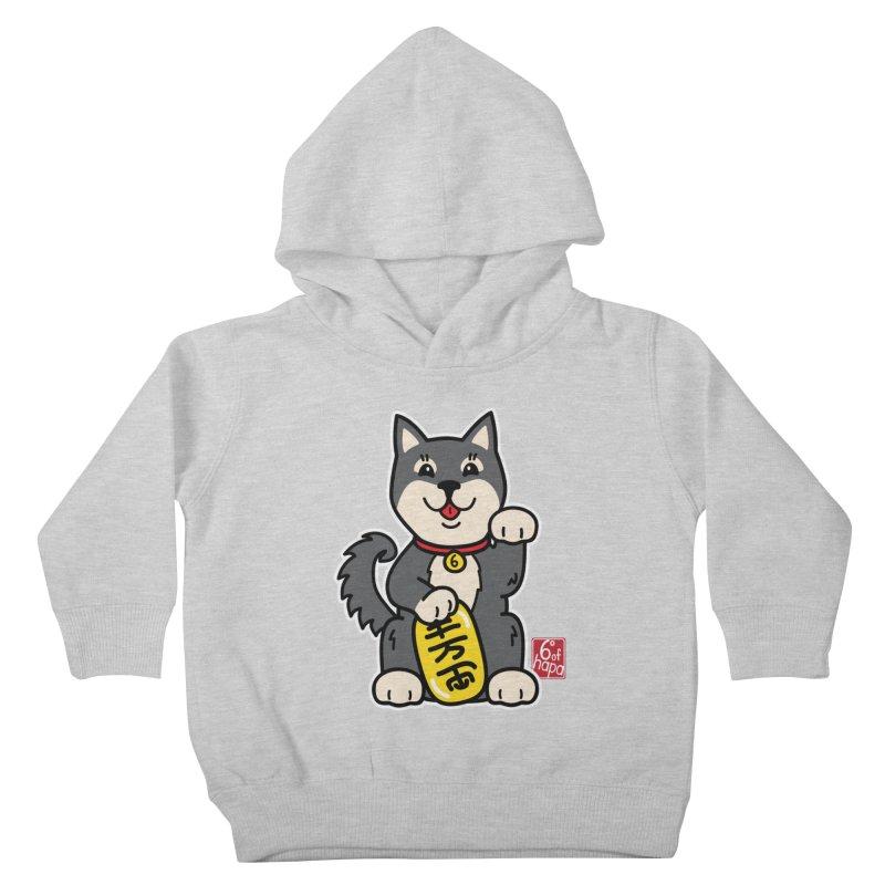 Maneki Inu - Kuro Kids Toddler Pullover Hoody by 6degreesofhapa's Artist Shop