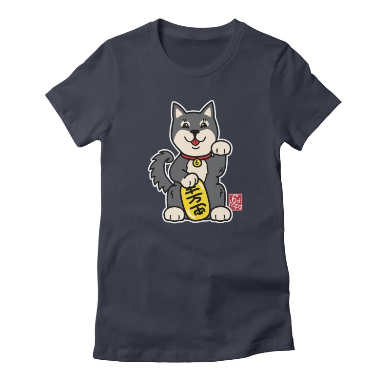Maneki Inu - Kuro Women's T-Shirt by 6degreesofhapa's Artist Shop