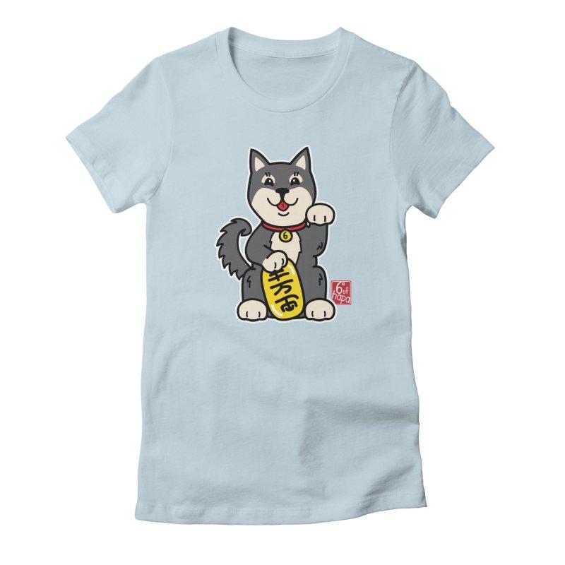Maneki Inu - Kuro Women's T-Shirt by 6degreesofhapa's Artist Shop