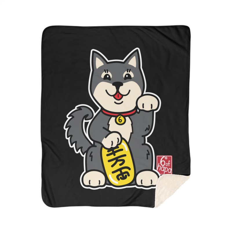 Maneki Inu - Kuro Home Blanket by 6degreesofhapa's Artist Shop