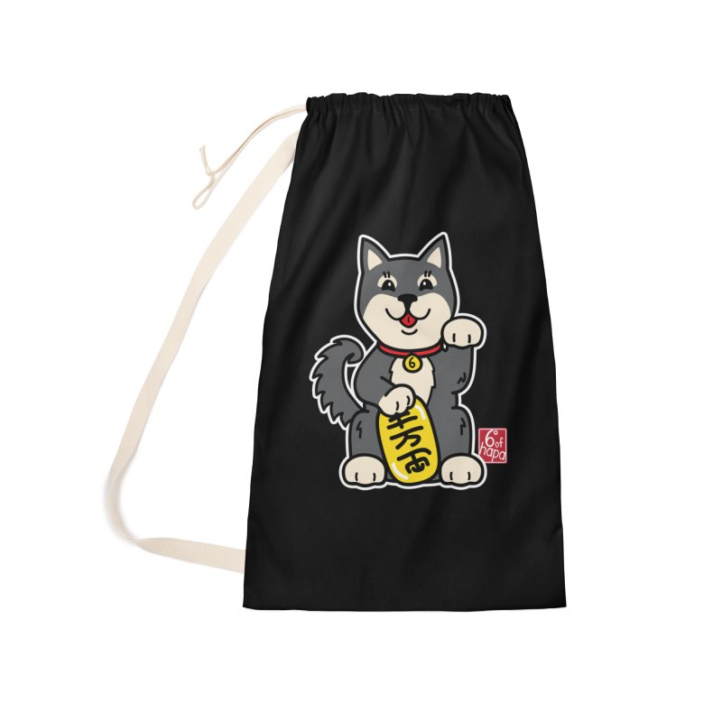 Maneki Inu - Kuro Accessories Bag by 6degreesofhapa's Artist Shop
