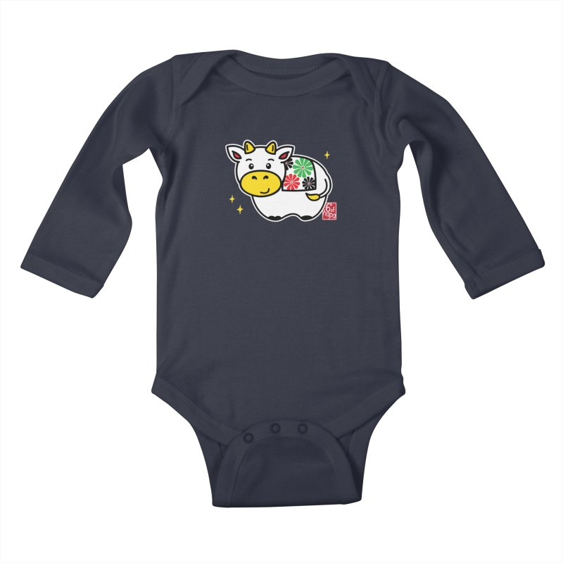 Year of the Ox - Shiro Kids Baby Longsleeve Bodysuit by 6degreesofhapa's Artist Shop