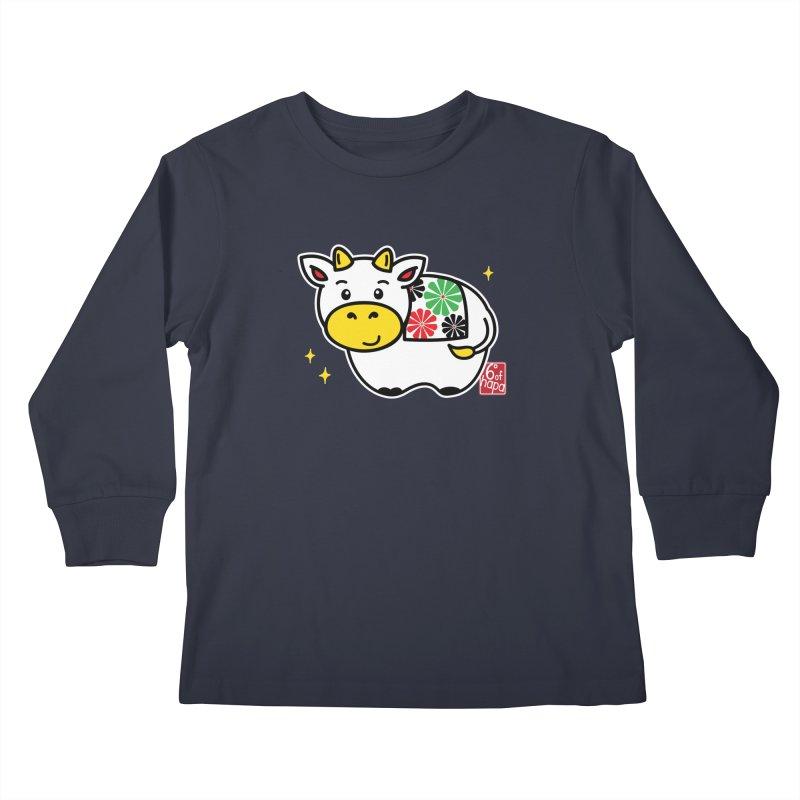 Year of the Ox - Shiro Kids Longsleeve T-Shirt by 6degreesofhapa's Artist Shop