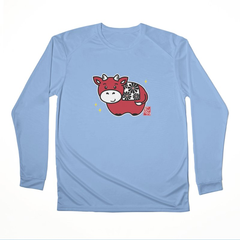 Year of the Ox - Aka Women's Longsleeve T-Shirt by 6degreesofhapa's Artist Shop
