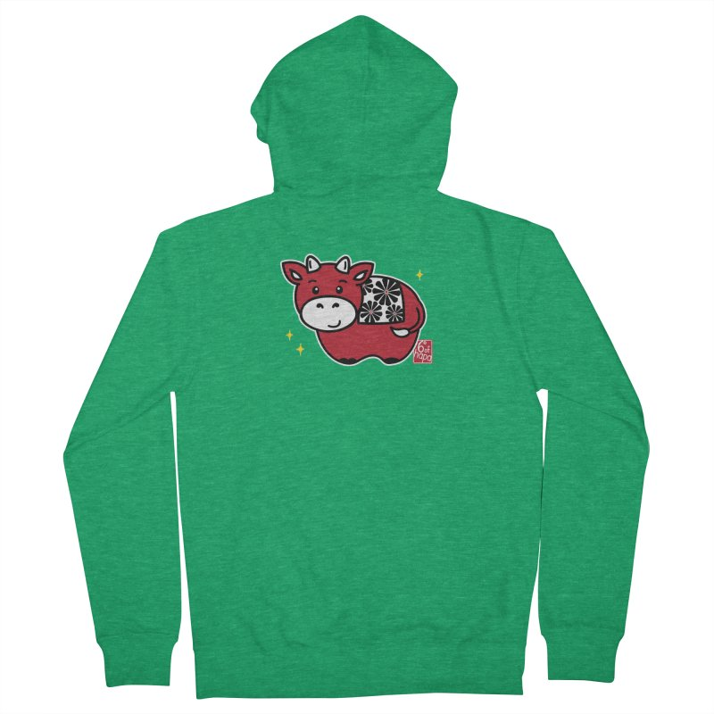 Year of the Ox - Aka Men's Zip-Up Hoody by 6degreesofhapa's Artist Shop