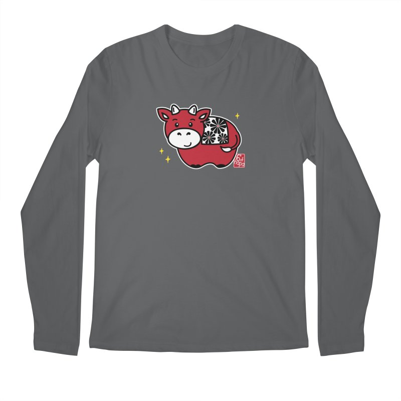 Year of the Ox - Aka Men's Longsleeve T-Shirt by 6degreesofhapa's Artist Shop