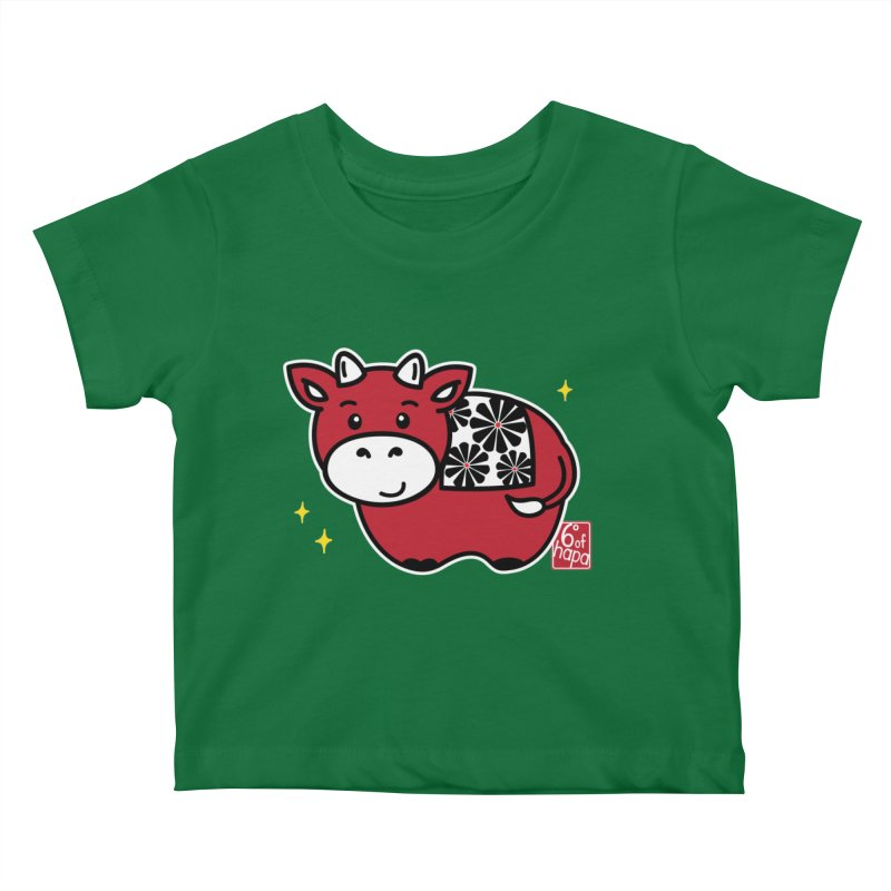 Year of the Ox - Aka Kids Baby T-Shirt by 6degreesofhapa's Artist Shop