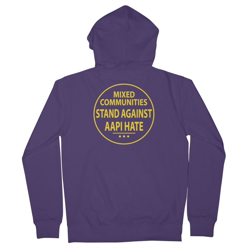 Mixed Communities Stand Against AAPI Hate I Women's Zip-Up Hoody by 6degreesofhapa's Artist Shop