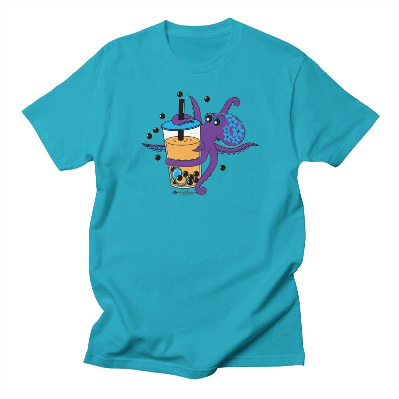 Boba Tea Octopus Men's T-Shirt by 6degreesofhapa's Artist Shop