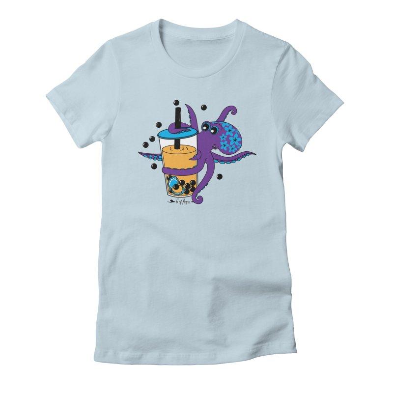 Boba Tea Octopus Women's T-Shirt by 6degreesofhapa's Artist Shop