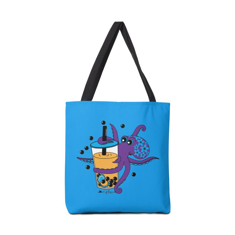 Boba Tea Octopus Accessories Bag by 6degreesofhapa's Artist Shop