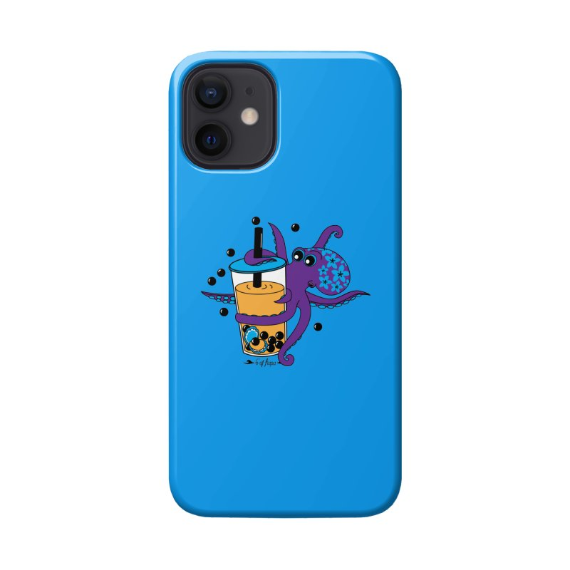Boba Tea Octopus Accessories Phone Case by 6degreesofhapa's Artist Shop