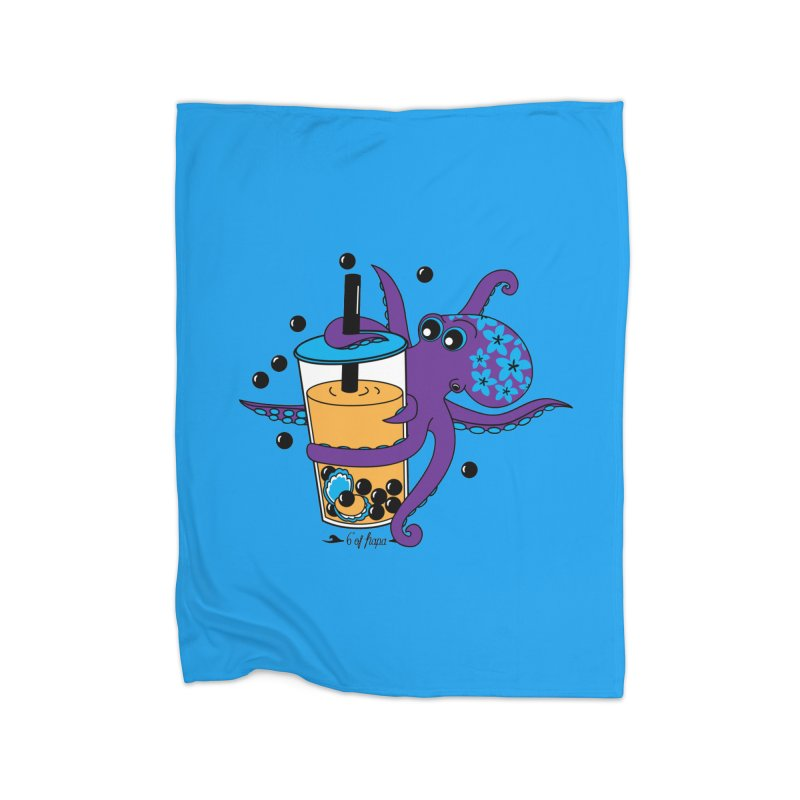 Boba Tea Octopus Home Blanket by 6degreesofhapa's Artist Shop