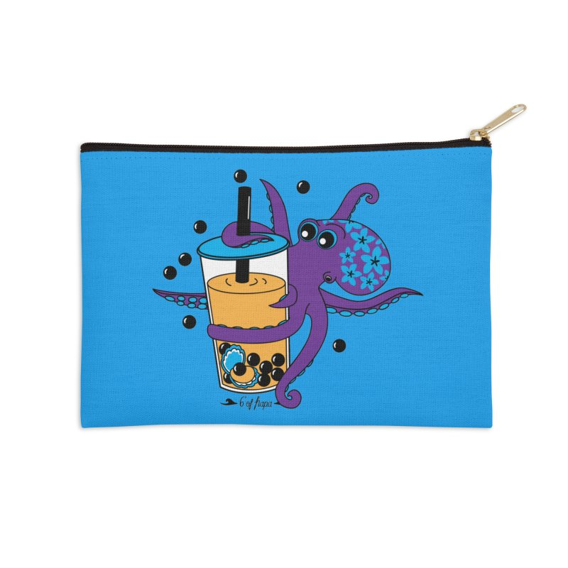 Boba Tea Octopus Accessories Zip Pouch by 6degreesofhapa's Artist Shop