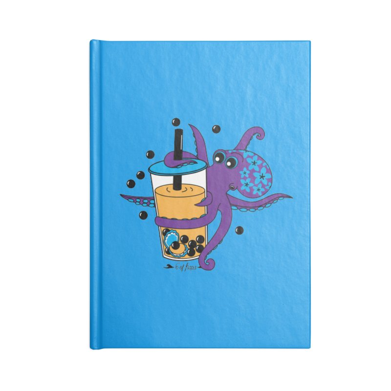 Boba Tea Octopus Accessories Notebook by 6degreesofhapa's Artist Shop