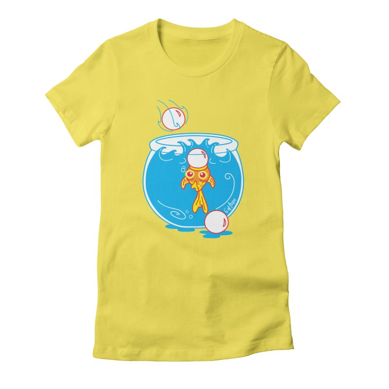 Ping Pong Goldfish Women's T-Shirt by 6degreesofhapa's Artist Shop