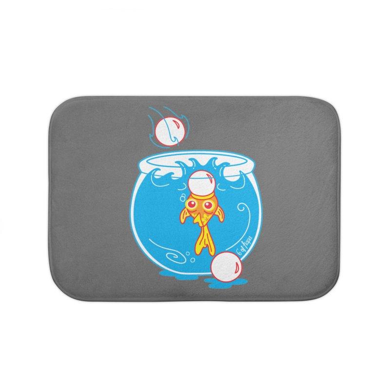 Ping Pong Goldfish Home Bath Mat by 6degreesofhapa's Artist Shop
