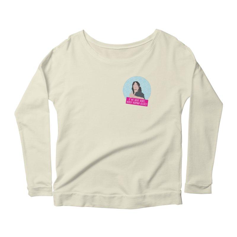 If we were books would Norman Reedus? Women's Scoop Neck Longsleeve T-Shirt by iridescent matter