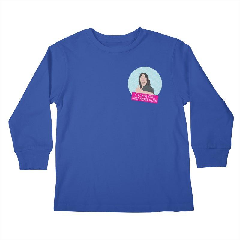 If we were books would Norman Reedus? Kids Longsleeve T-Shirt by iridescent matter