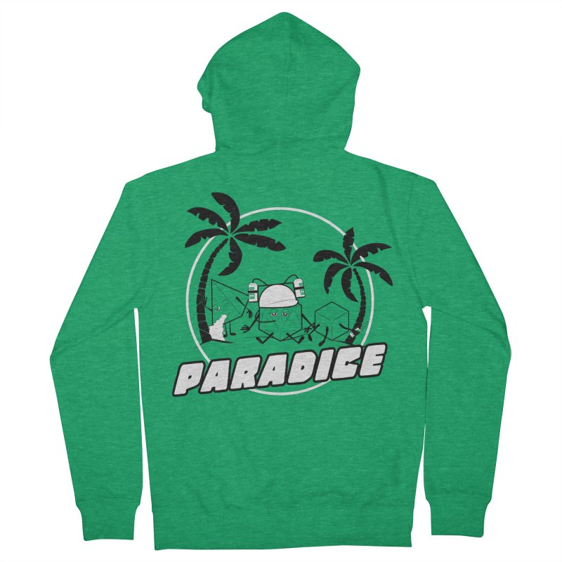 paradice Men's French Terry Zip-Up Hoody by iridescent matter