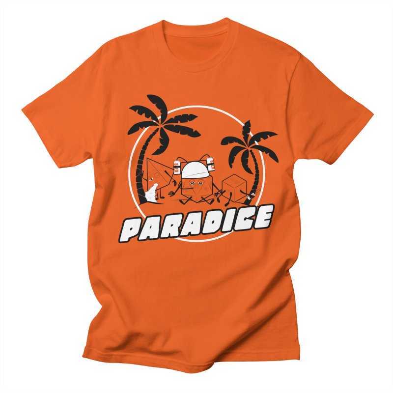 paradice in Men's T-Shirt Orange Poppy by iridescent matter