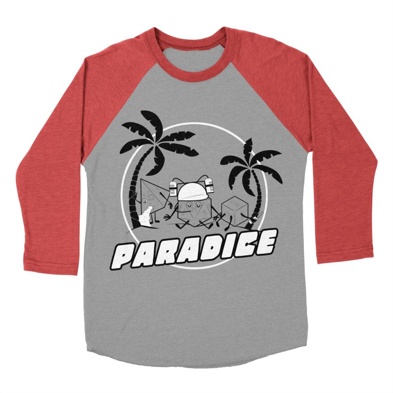 paradice Women's Baseball Triblend Longsleeve T-Shirt by iridescent matter