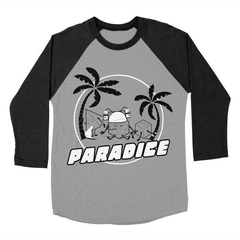 paradice Women's Baseball Triblend T-Shirt by iridescent matter