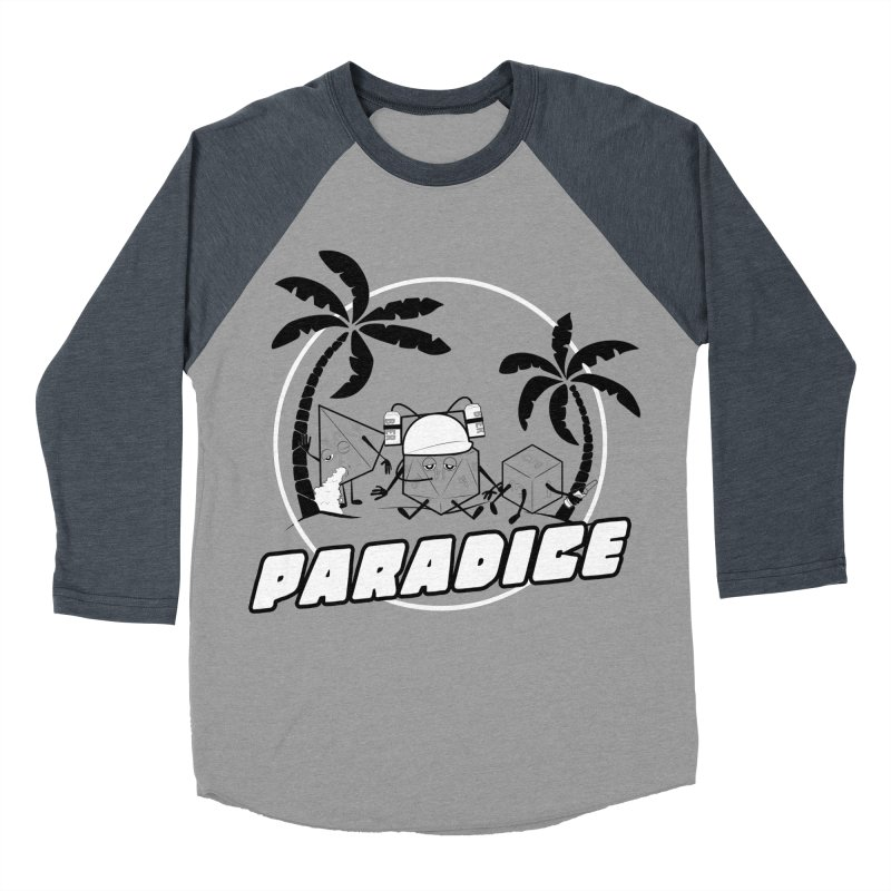 paradice Men's Baseball Triblend T-Shirt by iridescent matter