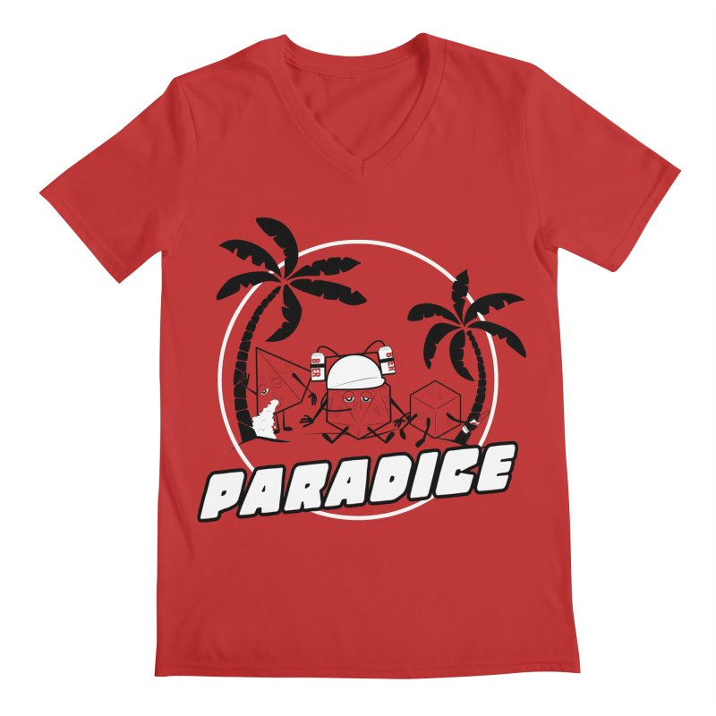 paradice Men's V-Neck by iridescent matter