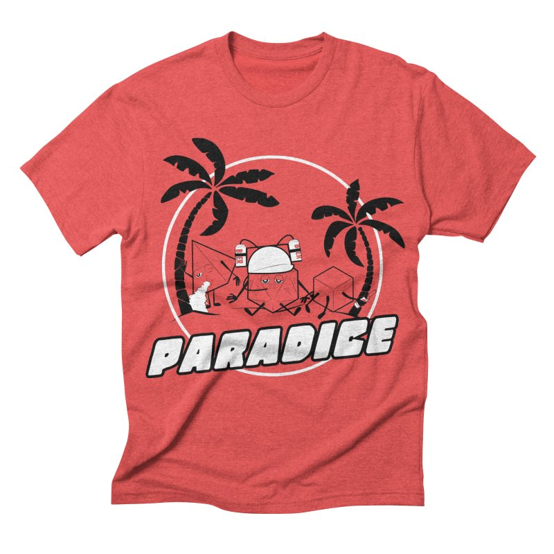 paradice Men's Triblend T-shirt by iridescent matter