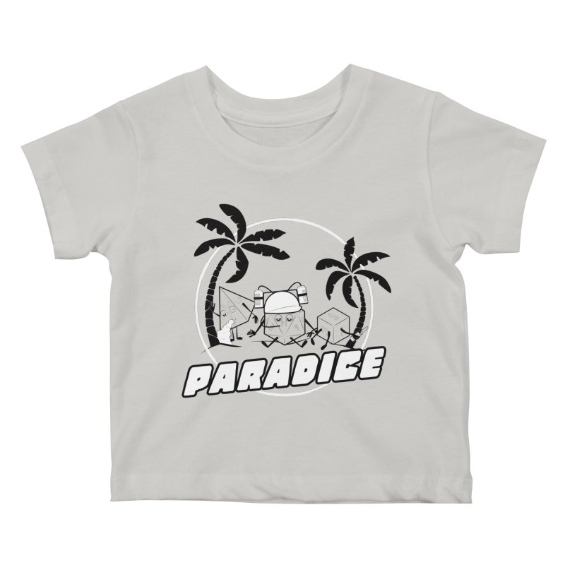 paradice Kids Baby T-Shirt by iridescent matter