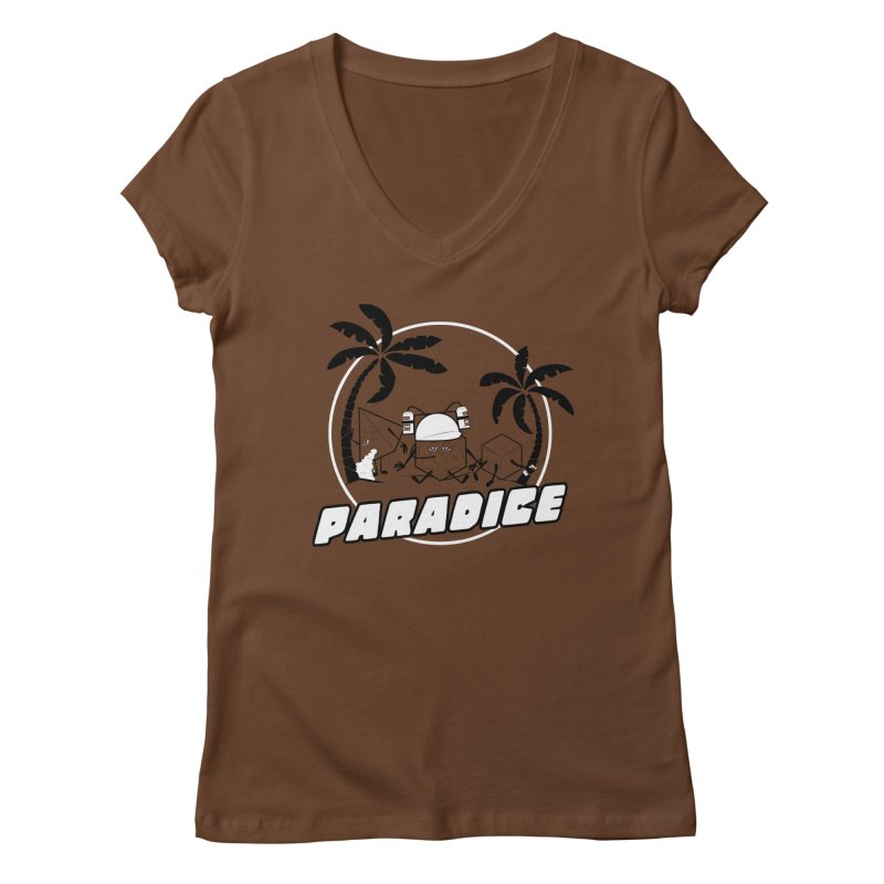 paradice Women's Regular V-Neck by iridescent matter