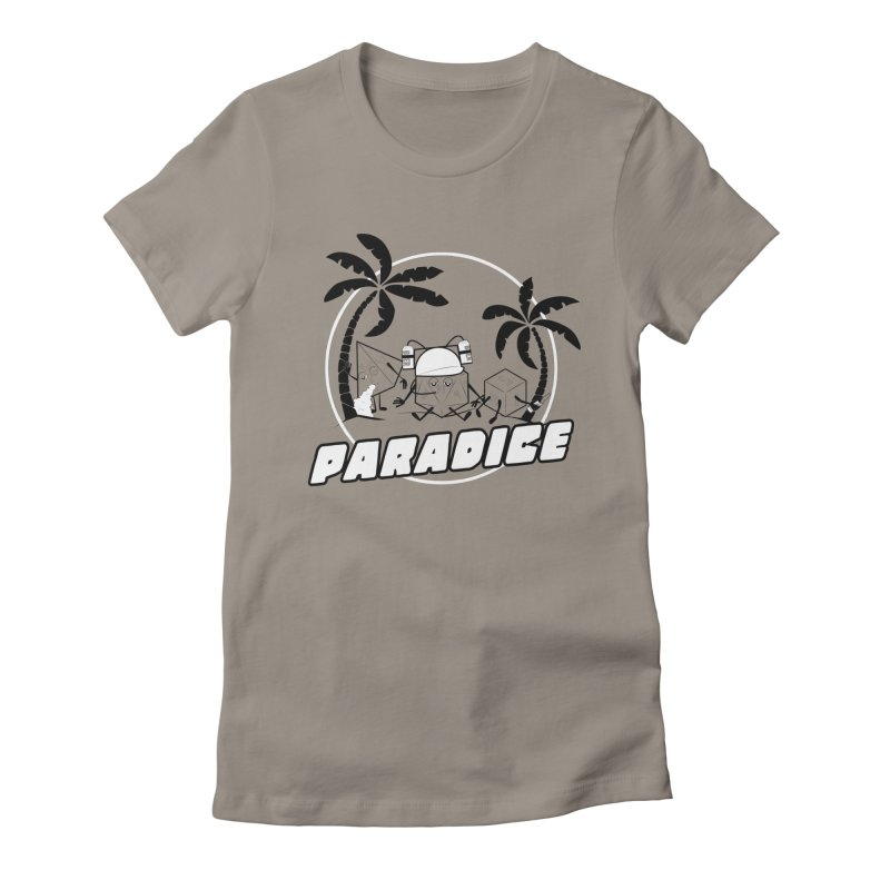 paradice Women's Fitted T-Shirt by iridescent matter