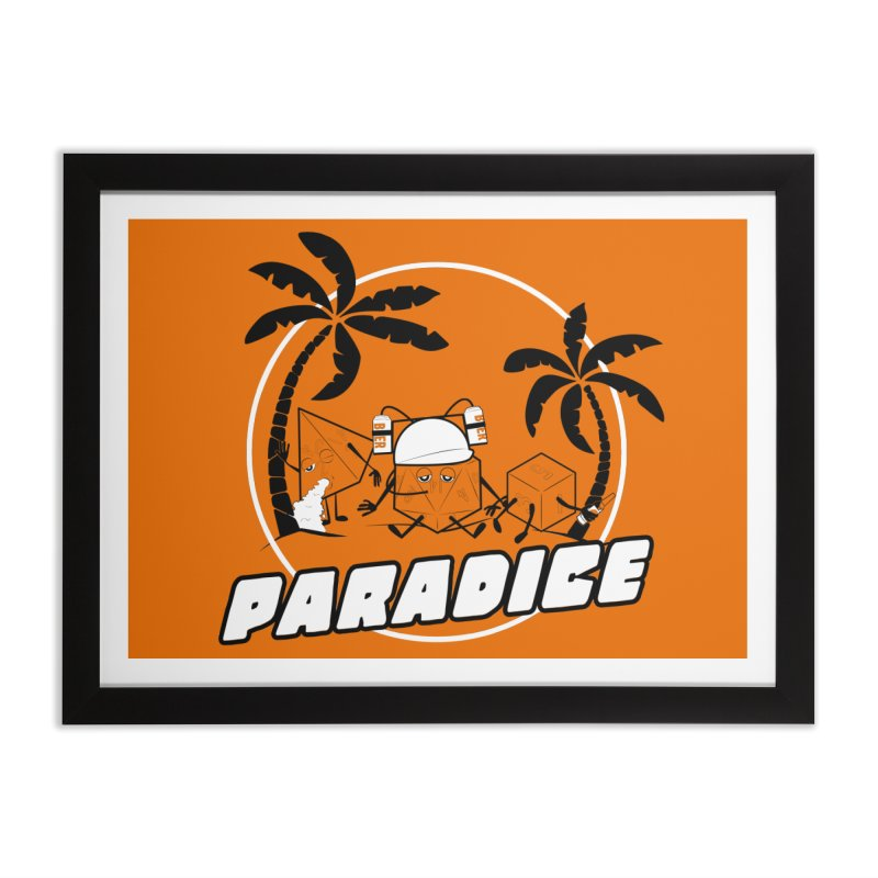 paradice Home Framed Fine Art Print by iridescent matter