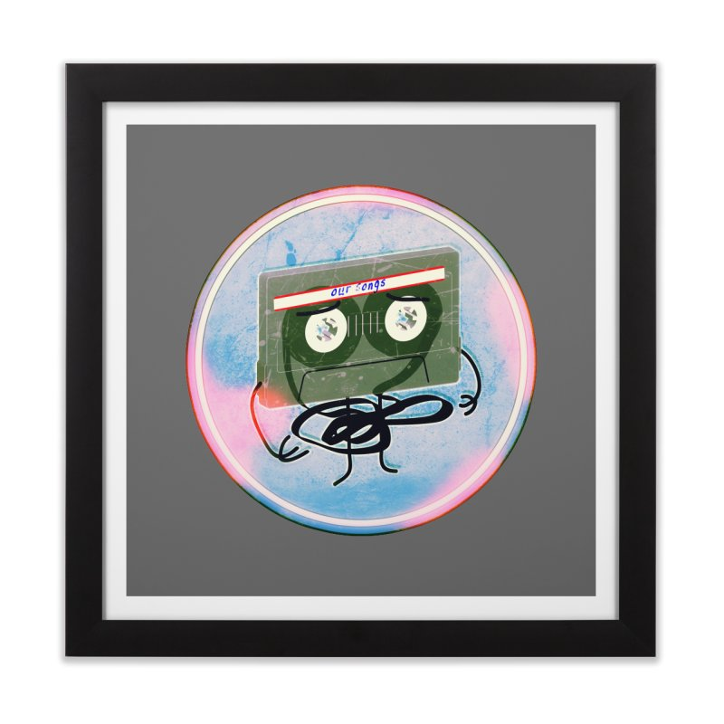 90's Break up. in Framed Fine Art Print Black by iridescent matter