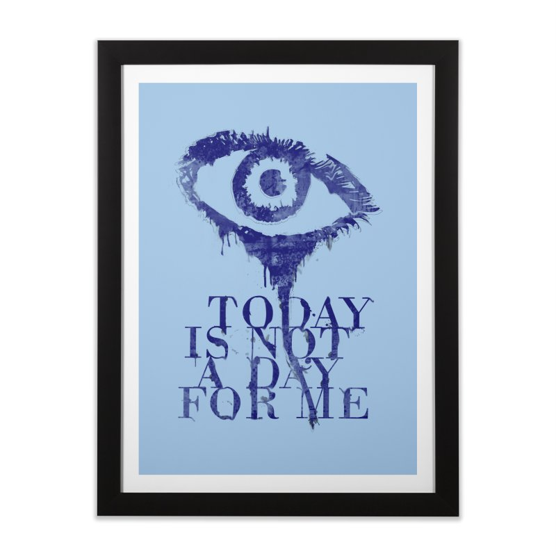 one of those days... in Framed Fine Art Print Black by iridescent matter