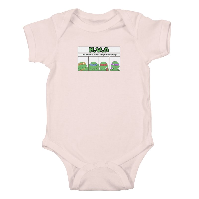 N.W.A Kids Baby Bodysuit by iridescent matter